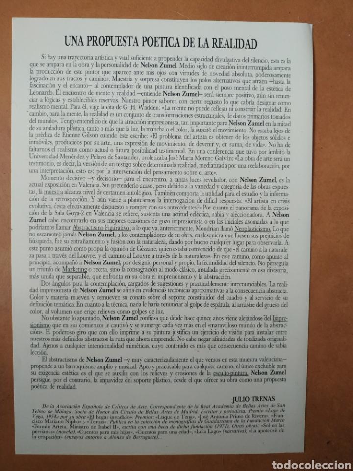 Arte: Libro del pintor Nelson Zumel, año 1993. Perfecto estado. - Foto 12 - 170408920