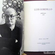 Arte: LUIS GORDILLO (SEVILLA, 1934) – ANTICOSAS, 1995 - GALERÍA ANTONIO MACHÓN, 1997. Lote 170888940