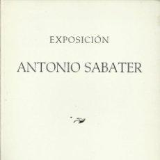 Arte: ANTONIO SABATER, GALERÍA COSTA, PALMA DE MALLORCA 1975. Lote 172024704