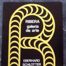 Arte: EBERHARD SCHLOTTER, GALERÍA RIBERA,, 24 PÁGINAS VALENCIA 1975. Lote 172294715
