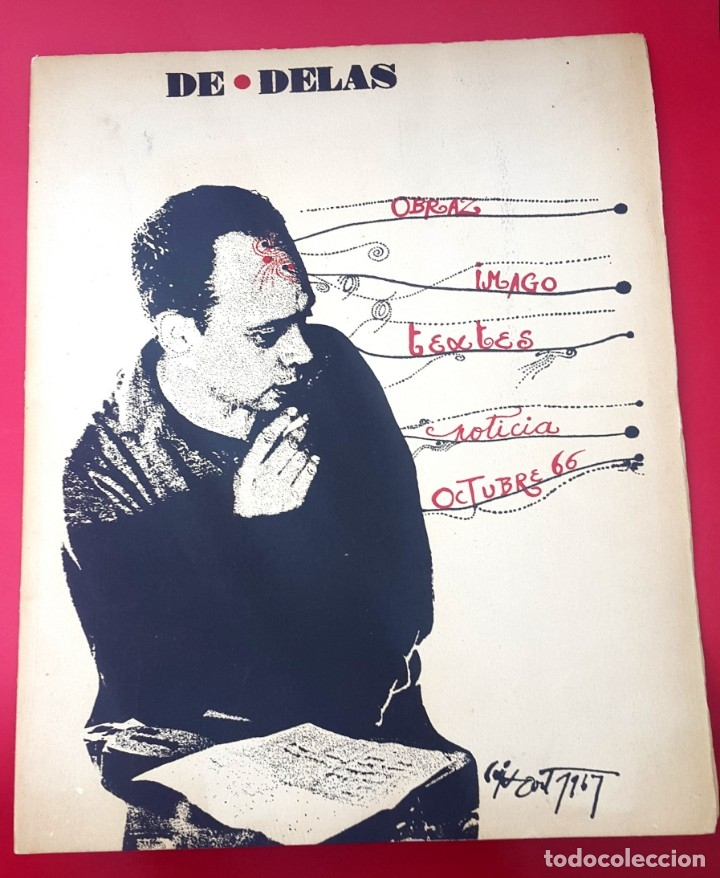 DE DELÁS - PIANISTA CARLOS SANTOS - 1967 - DIBUJO CUIXART - DÍPTICO - INVITACIÓN (Arte - Catálogos)