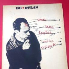 Arte: DE DELÁS - PIANISTA CARLOS SANTOS - 1967 - DIBUJO CUIXART - DÍPTICO - INVITACIÓN. Lote 172371510