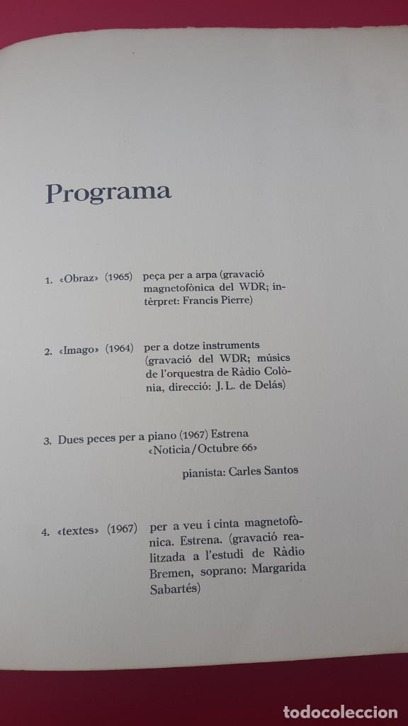 Arte: DE DELÁS - PIANISTA CARLOS SANTOS - 1967 - DIBUJO CUIXART - DÍPTICO - INVITACIÓN - Foto 4 - 172371510