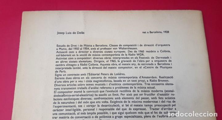 Arte: DE DELÁS - PIANISTA CARLOS SANTOS - 1967 - DIBUJO CUIXART - DÍPTICO - INVITACIÓN - Foto 5 - 172371510