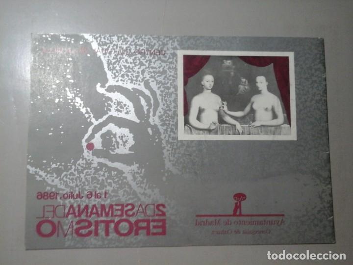 Arte: 2ª SEMANA DEL EROTISMO. JULIO 1986. PROGRAMA.LUIS G. BERLANGA.JOAQUIN SABINA...MOVIDA MADRILEÑA.RARO - Foto 2 - 172374874