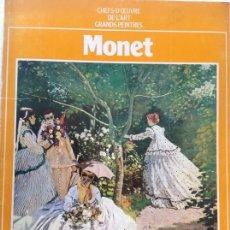 Arte: MONET. LIBRETO DE FOTOS DE LA OBRA DE MONET. CHEFS D'OEUVRE DE L'ART GRANDES PEINTRES.. Lote 172967559