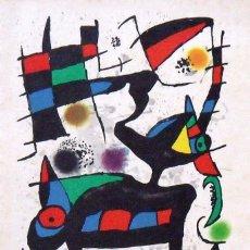 Arte: JOAN MIRÓ. CATÁLOGO CON LITOGRAFÍAS DE ODA A JOAN MIRÓ. POLÍGRAFA. 1973. GALERÍA RENÉ METRAS.. Lote 133092006