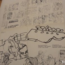 Arte: DESPLEGABLE.EXPOSICION JUAN BUENO.ESTUDIO DE ARTE.CLUB RADIO BARCELONA.1968. Lote 175353097