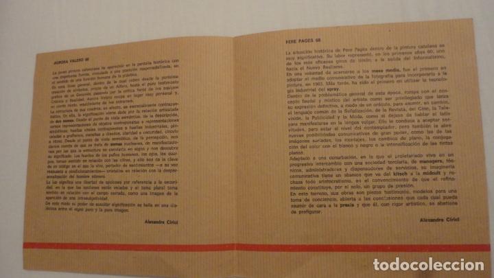 Arte: DIPTICO.EXPOSICION PINTURAS.AURORA VALERO.PERE PAGÉS.ATENEO SALAMANCA 1968. - Foto 2 - 175353787