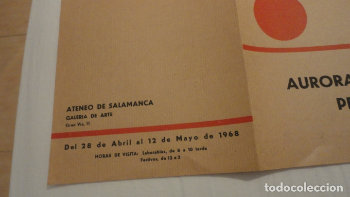 Arte: DIPTICO.EXPOSICION PINTURAS.AURORA VALERO.PERE PAGÉS.ATENEO SALAMANCA 1968. - Foto 3 - 175353787