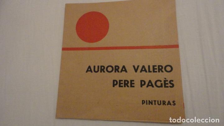 DIPTICO.EXPOSICION PINTURAS.AURORA VALERO.PERE PAGÉS.ATENEO SALAMANCA 1968. (Arte - Catálogos)