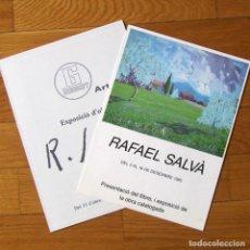 Arte: TRÍPTICO + DÍPTICO EXPOSICIONES DE RAFAEL SALVÁ, 1985-1986. Lote 175356054