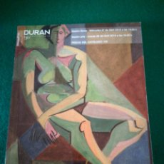 Arte: CATALOGO SUBASTAS DE ARTE DURAN. Lote 177049187