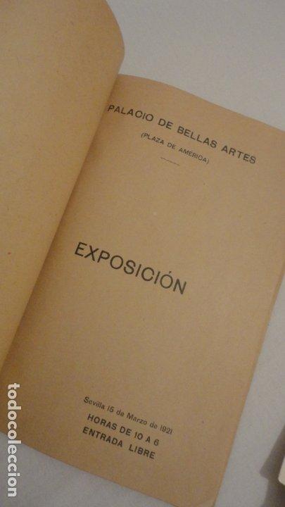 Arte: ANTIGUO CATALOGO EXPOSICION BELLAS ARTES SEVILLA 1921.GONZALO BILBAO.BENLLIURE.JOAN MIRO? GROSSO - Foto 2 - 178391712