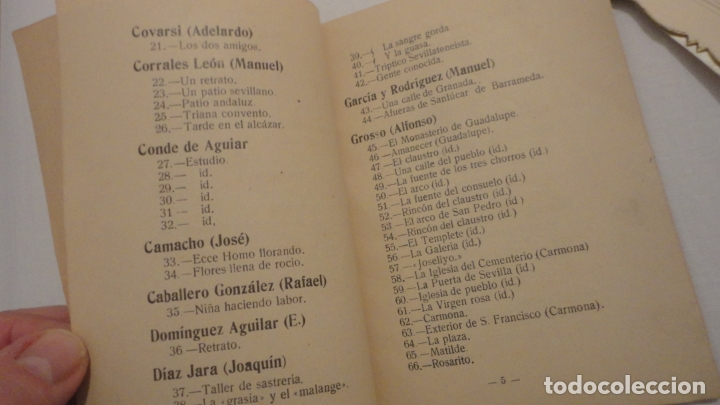 Arte: ANTIGUO CATALOGO EXPOSICION BELLAS ARTES SEVILLA 1921.GONZALO BILBAO.BENLLIURE.JOAN MIRO? GROSSO - Foto 4 - 178391712