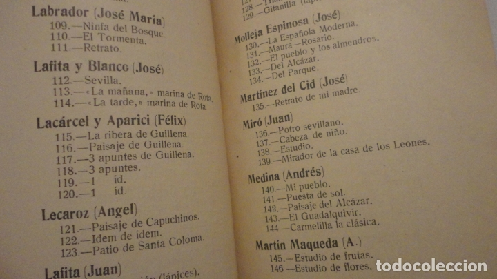 Arte: ANTIGUO CATALOGO EXPOSICION BELLAS ARTES SEVILLA 1921.GONZALO BILBAO.BENLLIURE.JOAN MIRO? GROSSO - Foto 6 - 178391712