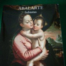 Arte: ABALARTE CATALOGO DE SUBASTAS. Lote 179139106