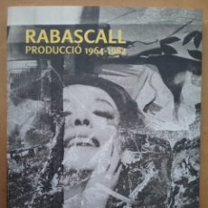 Arte: JOAN RABASCALL ARTE CONCEPTUAL CATÁLOGO OBRA 1964 - 1982. Lote 179171270