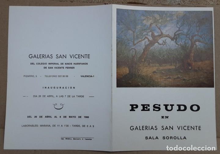 PESUDO CATÁLOGO EXPOSICIÓN PINTURA EN CERÁMICA VALENCIA 1980 (Arte - Catálogos)