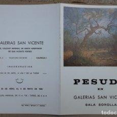 Arte: PESUDO CATÁLOGO EXPOSICIÓN PINTURA EN CERÁMICA VALENCIA 1980. Lote 179186490