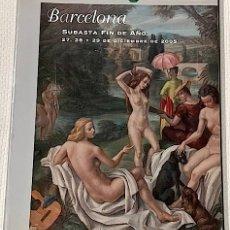 Arte: LAMAS BOLAÑO. SUBASTA FIN DE AÑO. BARCELONA, 27, 28 Y 29 DICIEMBRE 2005. 4°, 405 P. 1792 LOTES. Lote 180274388