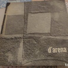 Arte: CUADERNO DE ARTE.EXPOSICION PINTURA FRANCESCO D'ARENA.SALA PRADO.MADRID 1962. Lote 180285217