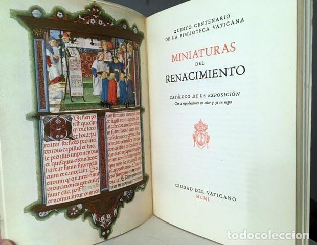 MINIATURAS DEL RENACIMIENTO. (5º CENTENARIO DE LA BIBLIOTECA VATICANA) EXPOSICIÓN. CATÁLOGO (Arte - Catálogos)