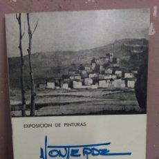 Arte: MONTERDE - EXPOSICION DE PINTURAS - SALA BAYEU ZARAGOZA 1975. Lote 180478410