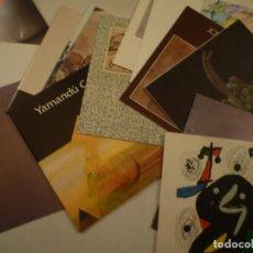 Arte: GALERIA JOAN PRATS. LOTE 17 INVITACIONES. JOAN MIRO. RAFOLS CASAMADA, BORRELL. GABINO, CASTILLO. ETC. Lote 180841418