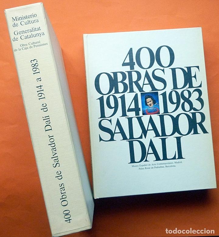 400 OBRAS DE SALVADOR DALÍ 1914-1983 - ESTUCHE CON LIBRO DOBLE - VV. AA. - 1983 - COMO NUEVO (Arte - Catálogos)