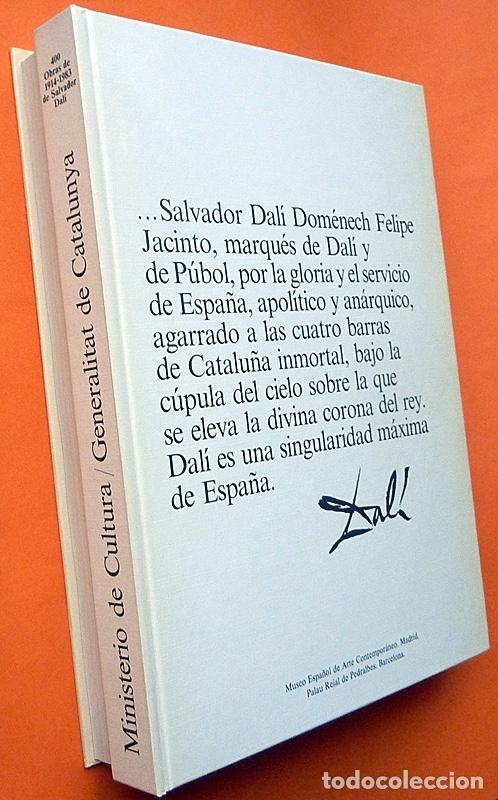 Arte: 400 OBRAS DE SALVADOR DALÍ 1914-1983 - ESTUCHE CON LIBRO DOBLE - VV. AA. - 1983 - COMO NUEVO - Foto 3 - 180968367