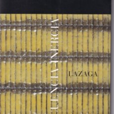 Arte: SECUENCIA-INERCIA - LAZAGA (2000) / CATÁLOGO. Lote 181401001