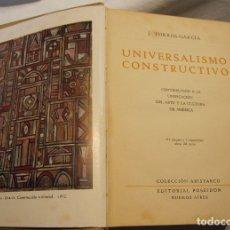 Arte: JOAQUIN TORRES GARCIA. UNIVERSALISMO CONSTRUCTIVO. BUENOS AIRES, 1944. Lote 182081340