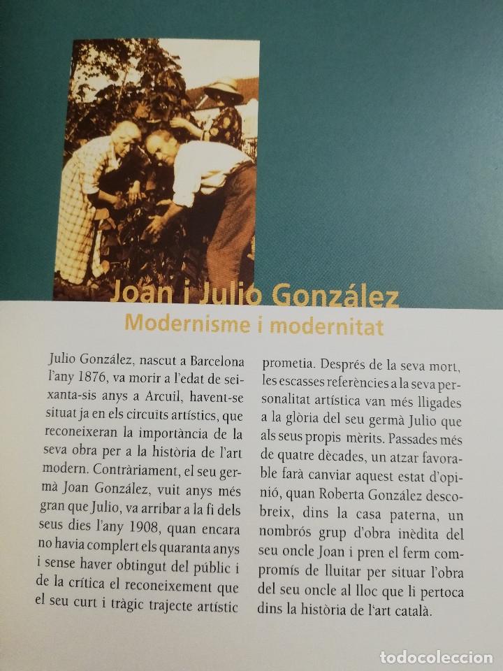 Arte: JOAN I JULIO GONZÁLEZ. MODERNISME I MODERNITAT 1898 - 1930 (FUNDACIÓ CAIXA MANRESA) - Foto 9 - 182110145