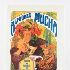 Arte: ALPHONSE MUCHA, TOUTES LES AFFICHES & PANNEAUX, 1984, JACK RENNERT, UPPSALA, SUECIA. 33X25,5CM. Lote 183269213