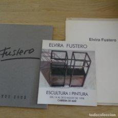 Arte: 4 CATÁLOGOS DE ARTE DE ELVIRA FUSTERO.. Lote 183488697