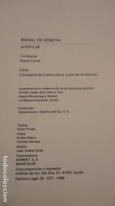 Arte: APERTO 86.BIENAL VENECIA 1986.GERARDO DELGADO.GUILLERMO PANENQUE.PATRICIO CABRERA.JUAN MUÑOZ. - Foto 19 - 183625588