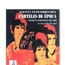 Arte: CATÁLOGO CASA DE SUBASTAS SOLER I LLACH - CARTELES DE ÉPOCA - 13 JUNIO 2002. Lote 183998212