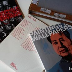 Arte: ANDY WARHOL: THE LATE WORK, PAINTING & WALLPAPERS AND TEXTS / 3 VOLÚMENES EN ESTUCHE. Lote 184640835