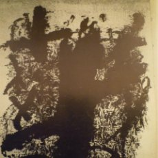 Arte: ANTONI TÀPIES. GALERIA VAL I 30. MORENO GALVÁN. Lote 185919242