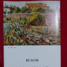 Arte: SIMÓ BUSOM SALA PARÉS 1976. Lote 187391700