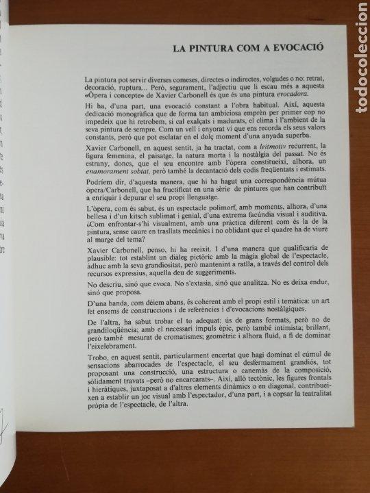 Arte: Ópera i Concepte - Xavier Carbonell - 1988 - Catálogo Exposición Pintura - Foto 10 - 188613025