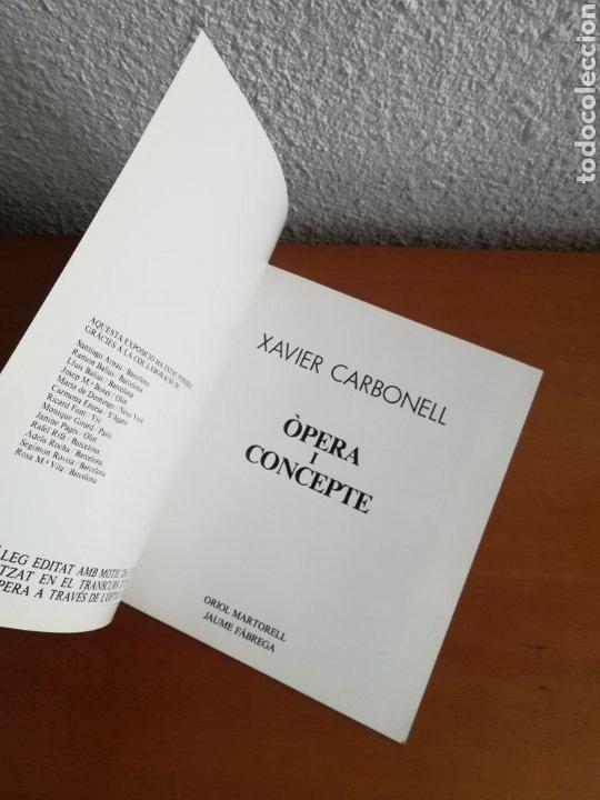 Arte: Ópera i Concepte - Xavier Carbonell - 1988 - Catálogo Exposición Pintura - Foto 5 - 188613025