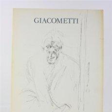 Arte: CATÁLOGO GIACOMETTI, ESCULTURES, PINTURES, DIBUIXOS, 1981, 1982, GALERIA MAEGHT, BARCELONA. 32X23CM. Lote 192138176