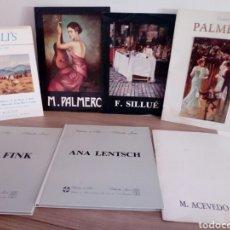 Arte: LOTE 7 CATALOGOS EXPOSICION DE ARTE: ACEVEDO,SILLUE,MAESTRO PALMERO(2),DON FINK,ANA LENTSCH,BALCLI'S. Lote 192860483