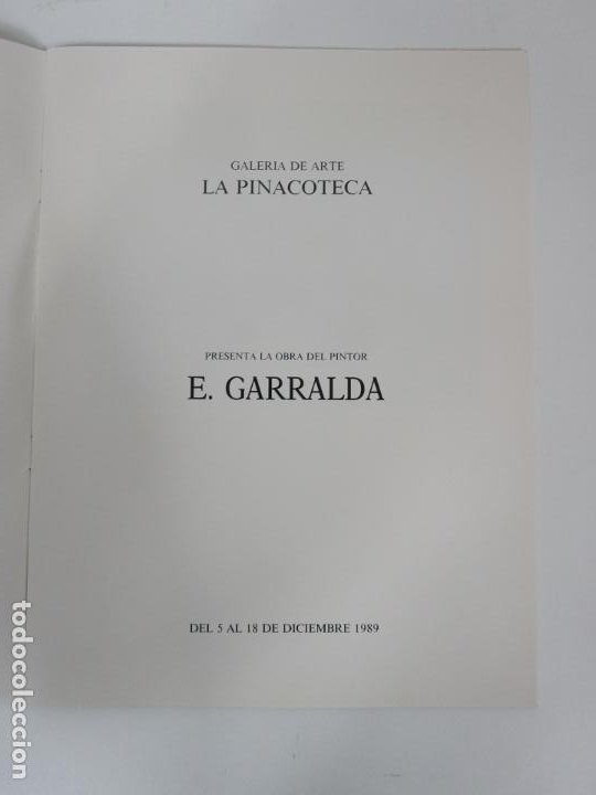 Arte: Catálogo E. Garralda - Galería de Arte La Pinacoteca, Barcelona - Temporada 1989-90 - Foto 3 - 192983287