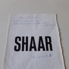 Arte: PINCHAS SHAAR - GALERIA JUANA MORDÓ - TRIPTICO EXPOSICIÓN. Lote 193078190