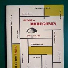 Arte: JUEGO DE BODEGONES. TEXTOS ANTONIO BONET Y ÁLVARO VILLACIEROS. GUILLERMO DE OSMA, 2001. Lote 194512675