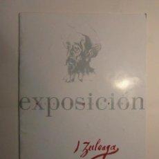 Arte: CATALOGO DE EXPOSICION DE IGNACIO ZULOAGA. RETABLO DE MAESE PEDRO. 30 X 21CM 18PAG. DEBIBL. Lote 194527183