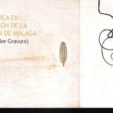 Arte: OBRA GRÁFICA EN LA COLECCIÓN DE LA DIPUTACIÓN PROVINCIAL DE MÁLAGA. (TALLER GRAVURA).TARJETA. 21X10 . Lote 194610063